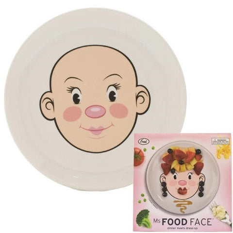 MS. FOOD FACE DINNER PLATE
