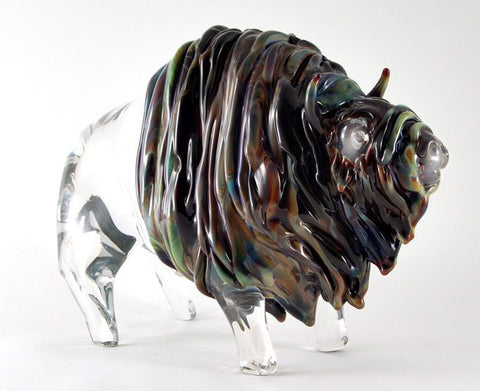 Murano glass buffalo in Calcedonio