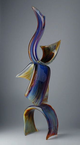 Murano Glass abstract ribbon in Calcedonio