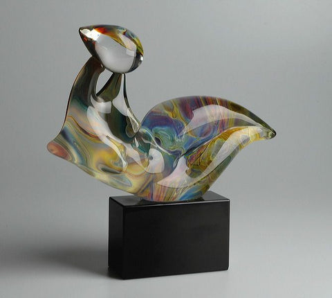 Murano Glass abstract in Calcedonio