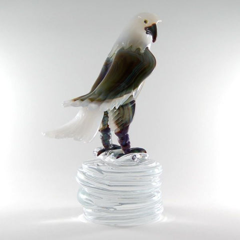 Murano glass eagle in Calcedonio