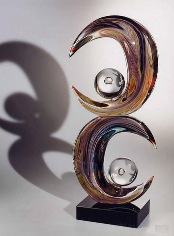 Murano glass half-moons sculpture in Calcedonio