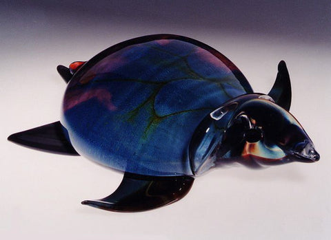 Murano glass turtle in Calcedonio