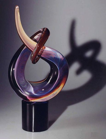 Knot sculpture in Calcedonio glass