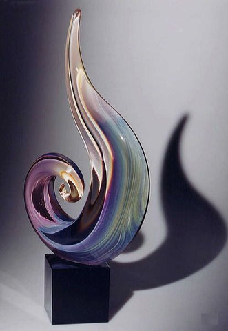 Murano glass tall spiral in Calcedonio glass
