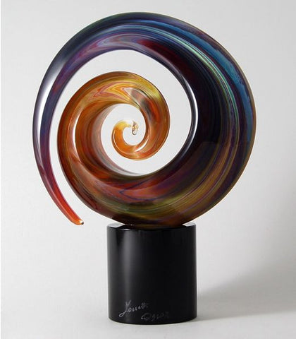Murano glass abstract sculpture in Calcedonio