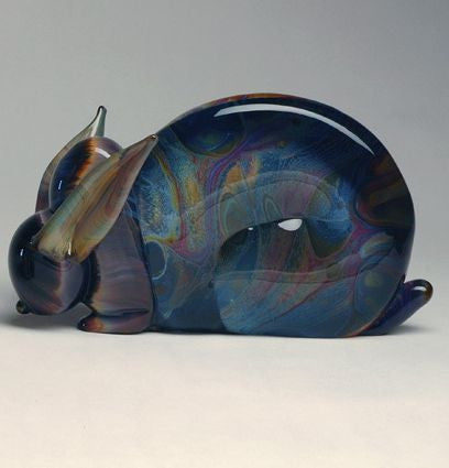 Murano glass rabbit in Calcedonio