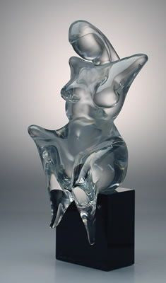 Murano glass abstract nude