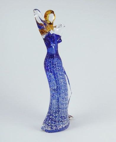 Murano glass woman in a blue dress