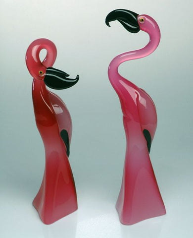 Pair of pink flamingoes
