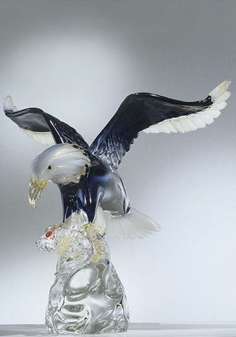 Murano glass eagle on a crystal base