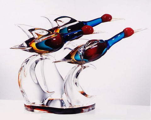 Murano glass ducks