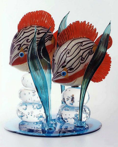 Murano glass tropical fish
