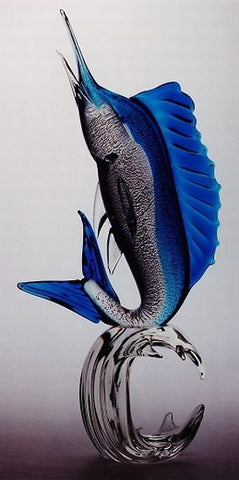 Murano glass swordfish