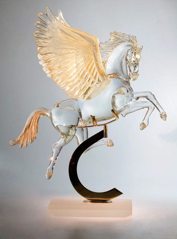 Crystal Pegasus with tall wings