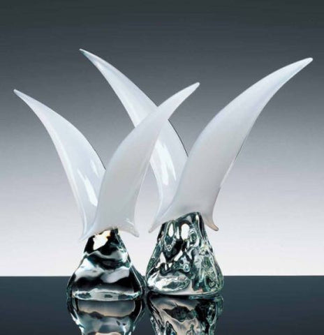 Murano glass seagull sculptures