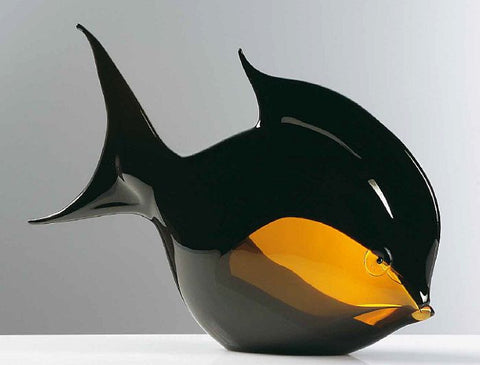 Tropical fish in black and amber