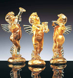 Gold angels with musical instruments