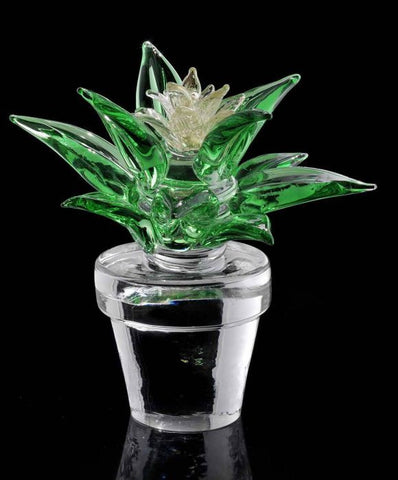 Limited edition cactus with crystal flower