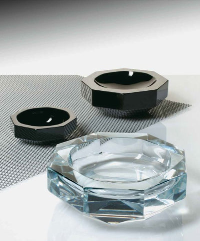 Murano glass ashtrays in crystal or black