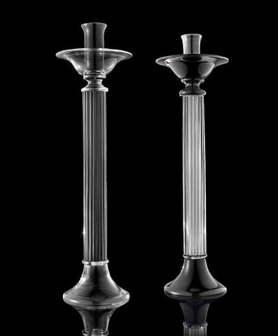 CrysCandlestick in crystal or black