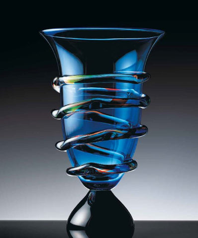 Blue vase with 'morises'