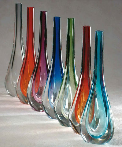 Modern stem vase in a range of colours