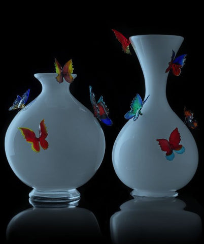 Limited edition butterfly vases