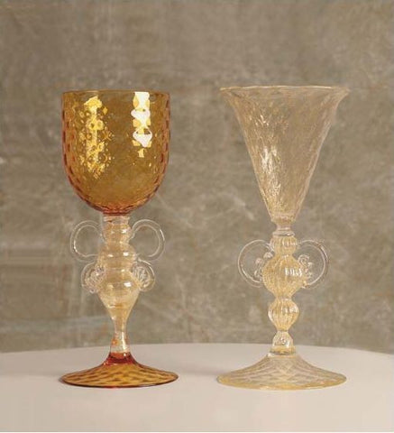 Gold and amber chalices