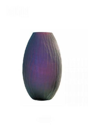 Amethyst diamond-cut vase