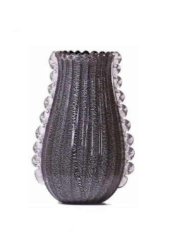 Black and silver vase