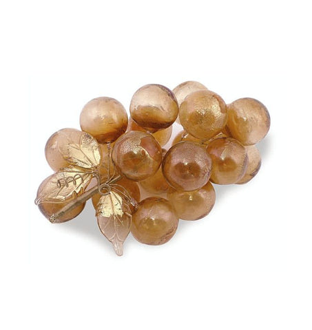 Cluster of grapes in amber and gold