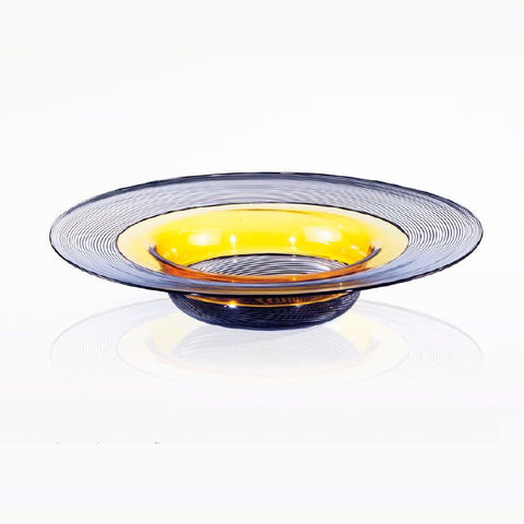 Luxurious large hand-crafted Murano glass plate
