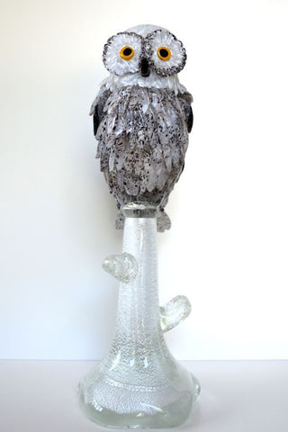 Large Murano glass owl figurine