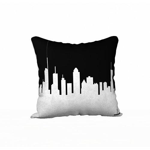 RT Montreal Square Pillow B&W
