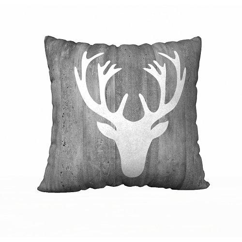 Christmas Moose Vintage Wood Pillow