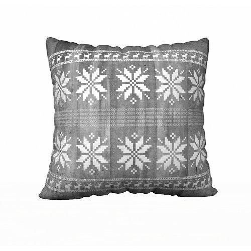 Christmas Vintage Gray Pillow