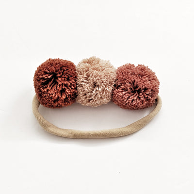 Pompom Trio Head Band - Indian Summer