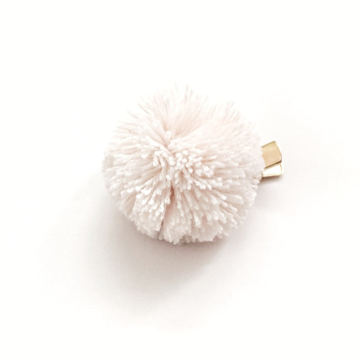 Pompom Hair Clip - Whipped Cream