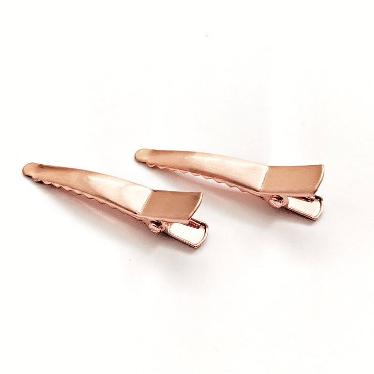 Mini Alligator Hair Clip - Rose Gold