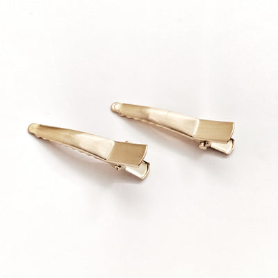 Mini Alligator Hair Clip - Yellow Gold