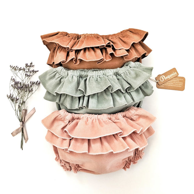Amalia Corduroy Bloomers - Honey Brown, Bloomers - Ponponia