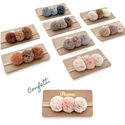 Pompom Trio Head Band - Confetti