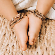 The Nishika Bracelet/Anklet in Light Brown