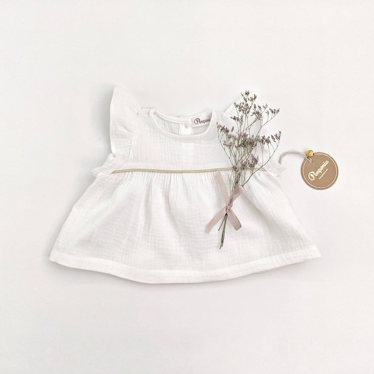 The Vinaya Top in Crisp White