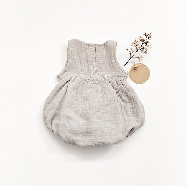 Nina sleeveless Romper - Smokey Sage