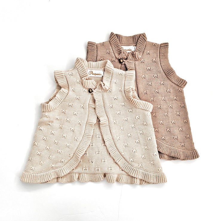 The Nora Vest in Buttermilk