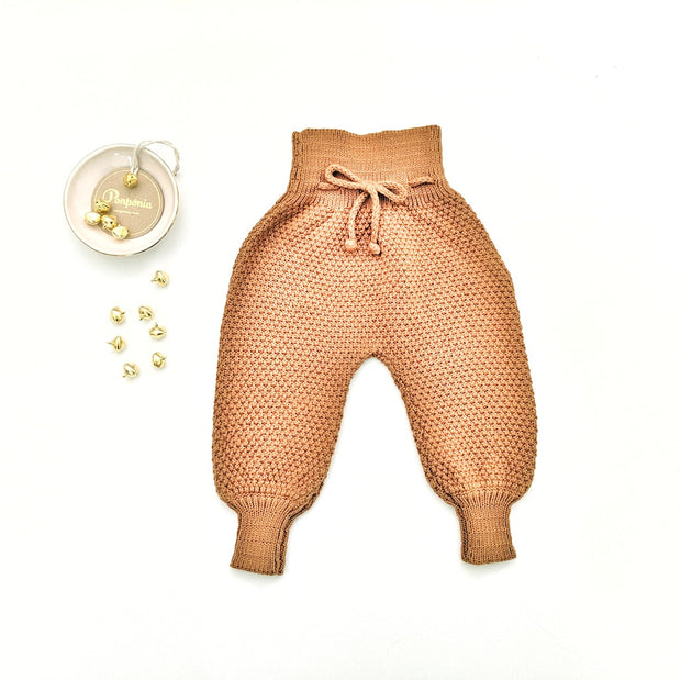 Emma Knitted Pants in Ginger