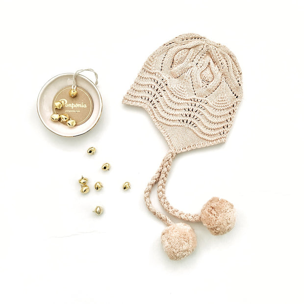 The Libby Braided Bonnet in Nude