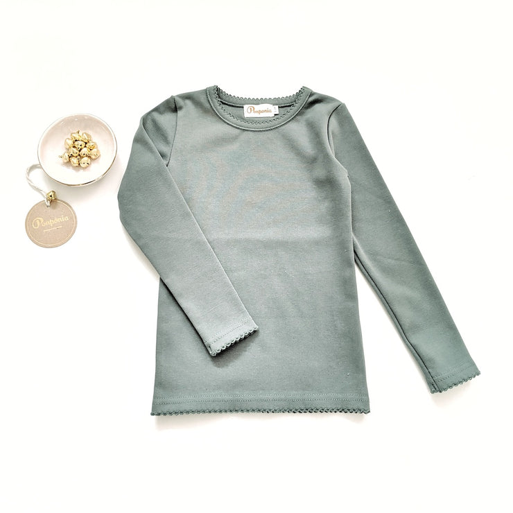 Lara Long Sleeve T in Winter Teal